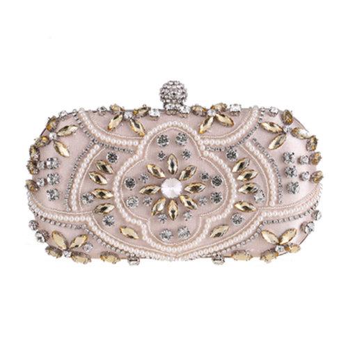 Women's Vintage Style Clutch Evening Bag Elegant Beaded Bag Luxurious Handbag Purse Cocktail Party,J