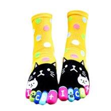 Tube Toe Socks Cotton Soft House Socks Cartoon Cute Socks-A11