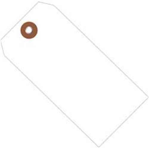 Box Partners G26057 6.25 x 3.12 in. White Plastic Shipping Tags - Pack of 100