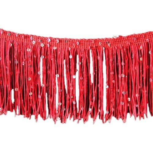 Dance Skirt Decoration Fringed Lace Length: 9.84 Feet Width:0.32 Feet