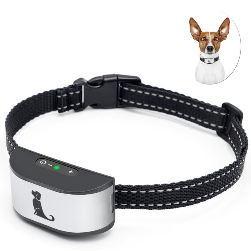 Dog Barking Collar with Adjustable Strap by ACETEND, Rechargeable New Version Dog Barking Device with Sound and Vibration for Small, Medium and...