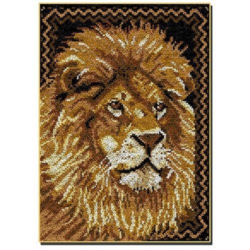 """Latch Hook Rug Kit""""Lion Portrait"""" 110x79cm"""