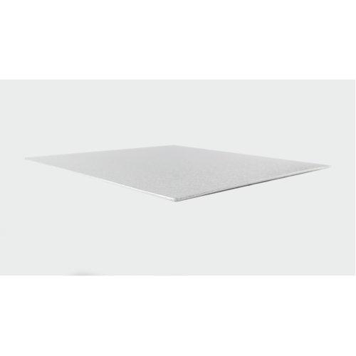 "10"" Thin Silver Square Cake Board 3mm Thick"