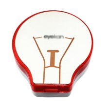 Fashion Creative Bulb Shaped Contact Lens Cases-Red