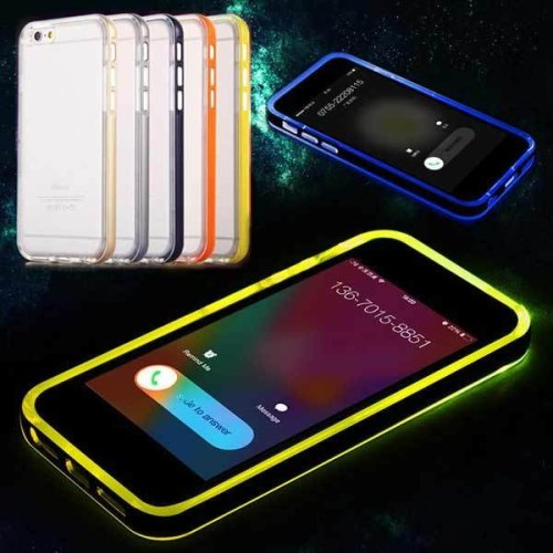 LED Flashlight UP Remind Incoming Call Cover Case For iPhone 6 6s 4.7