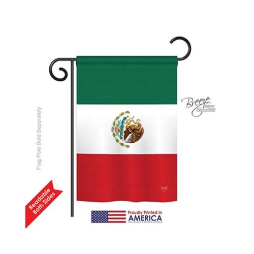 Breeze Decor 58357 Mexico Country 2-Sided Impression Garden Flag - 13 x 18.5 in.
