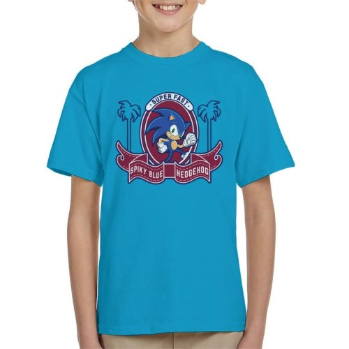Sonic The Hedgehog Super Fast Spiky Blue Kid's T-Shirt
