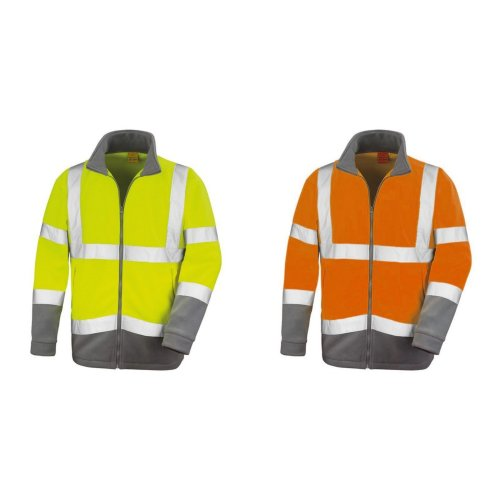 Result Core Mens Reflective Safety Micro Fleece Jacket (Pack of 2)