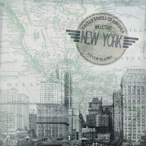 Ambiente Pack of 20 Napkins / Serviettes - New York - 33cm x 33cm - 3ply