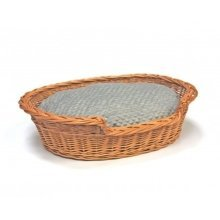 Extra Large Willow Dog Cat Pet Wicker Basket Soft Cushion