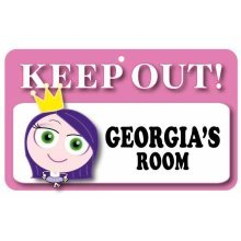 Keep Out Door Sign - Georgia's Room