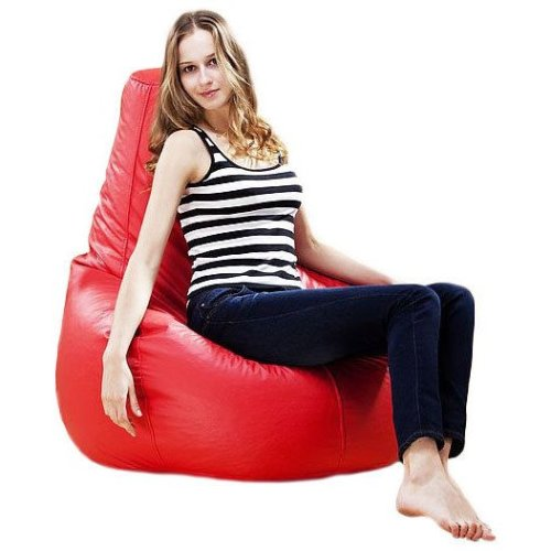 ADULT XXL LARGE GAMER BEANBAG CHAIR SEAT LEATHER BEAN BAG BAGS GAMING GAME POD