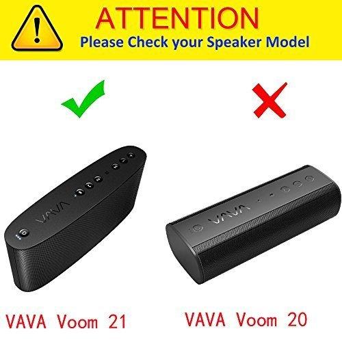 Khanka Hard Storage Carrying Travel Case Bag for VAVA Voom 21 Portable Bluetooth Wireless Speaker Black
