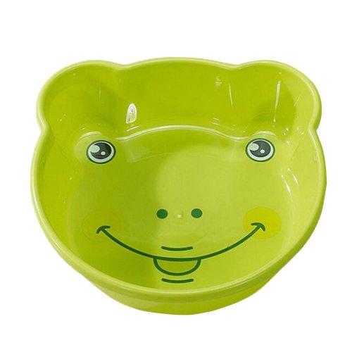 2PCS Children Cartoon Washbasin Thickened Newborn Small Basin[Green]