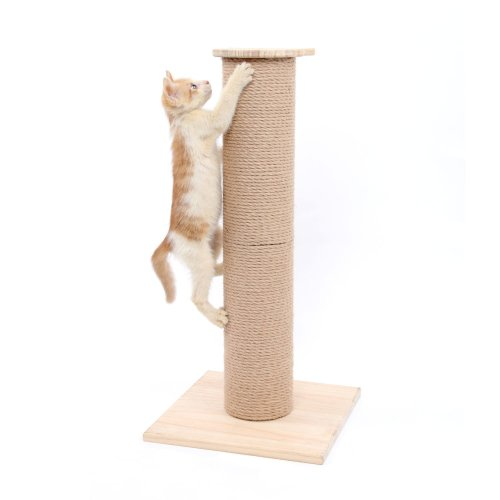 SWEET DEVIL Wooden Cat Scratching Post Play Tower Cat Tree Activity Centre for Cats Kittens Large