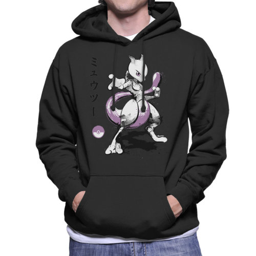 Pokemon Mewtwo Psychic Powers Men's Hooded Sweatshirt