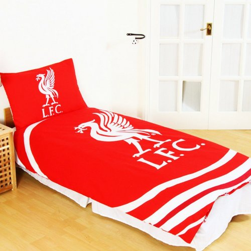 Liverpool FC Official Reversible Pulse Single Duvet Set