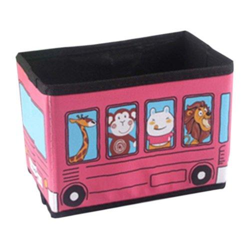 Cartoon Pink Zoo Cars Mini Desktop Storage Box Folded
