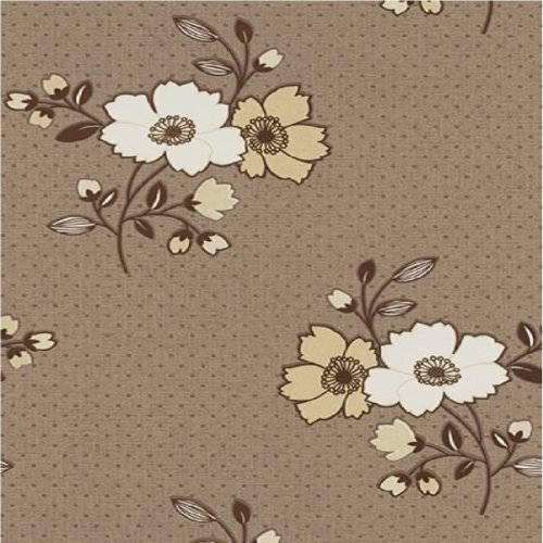 NEW LUXURY ERISMANN ASPIRE FLORAL EMBOSSED TEXTURED BLOWN VINYL WALLPAPER[BEIGE TAUPE 9683-33]*