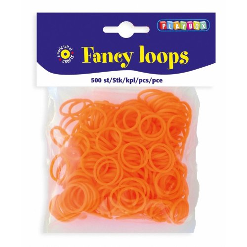 PBX2471095 - * Playbox - Loops (Loom Bands) - 500pcs orange