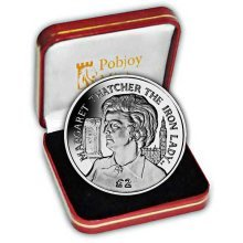 Ascension Island 2013 Baroness Thatcher - The Iron Lady Proof Silver Coin