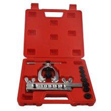 10pc Metric Pipe Flaring Tool Kit Mechanic Brake Plumber Clamp Spreader Dies Box