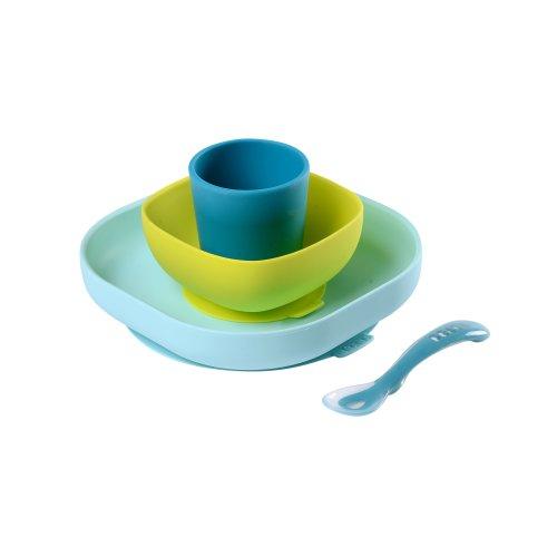Beaba Silicone Meal Set (4 pcs) - Blue