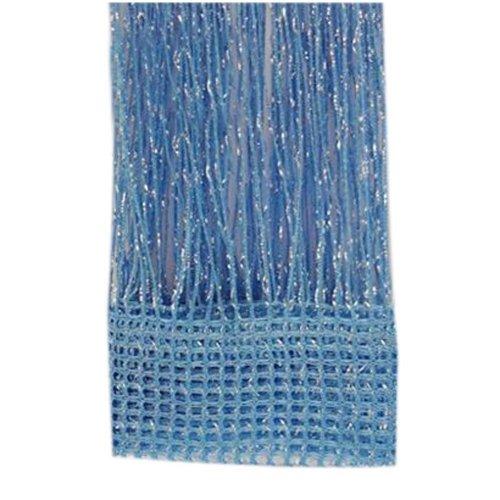 Set of 2 Door String Curtain Window Panel Room Divider Strip Curtain, Blue