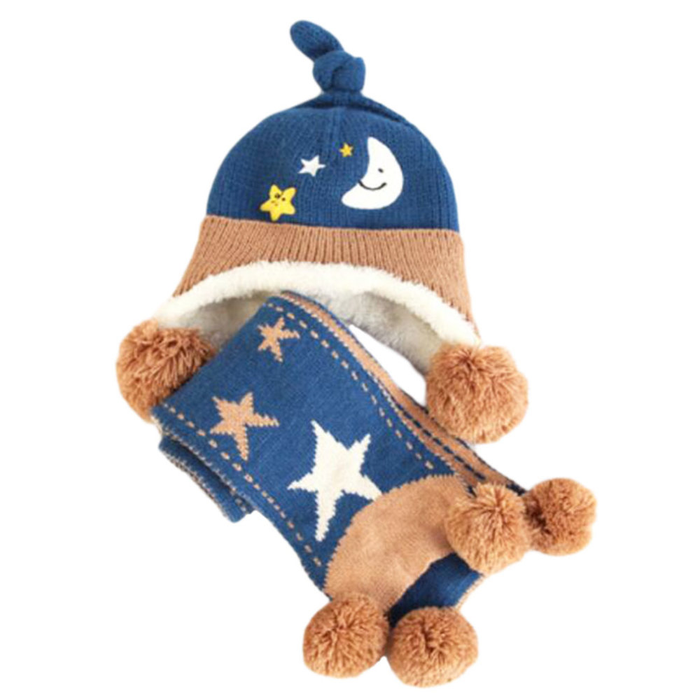 7b835e72 Winter Baby Kids Warm Earmuffs Hats Scarf Comfortable Plush Breathable Caps  Best Gift Set-Blue on OnBuy