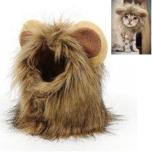 Little Ear Wig Cap Pet Cat Dog Funny Lion Hat Puppy Buckle Grooming Headgear