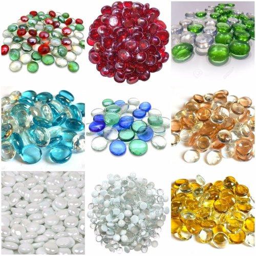 Amber Brown Crystal Decorative Glass Pebbles Home Vases Decor Wedding Reception