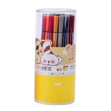[O] 36 Colors Watercolor Drawing Pens Colored Marker Pens Set for Children