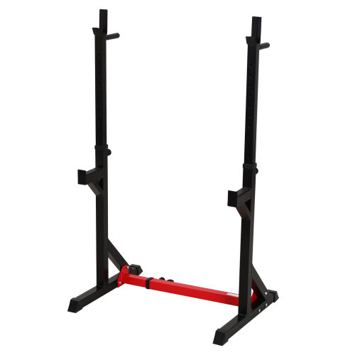 HOMCOM Barbell Rack Squat Dip Stand Weight Lifting Bench Press Home Gym Adjustable Multi-Use Station Fitness Workout Equipment 150kg 103-163cm