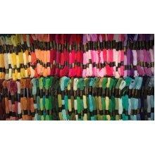 Pack of 120 Different Trebla Threads - Each Skein 8m of 6 strand cotton