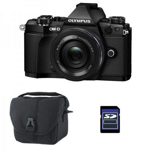 OLYMPUS E-M5 II Black + 14-42mm F3.5-5.6 EZ ED+camera Bag+16GB SD card