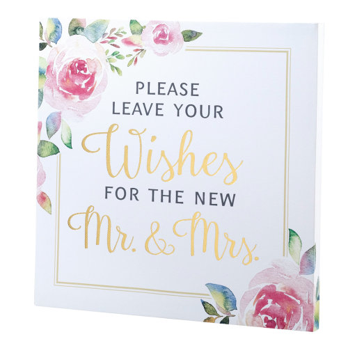 Lillian Rose Watercolor Wedding Wishes Sign