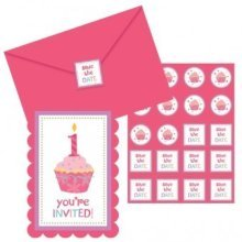 Sweet Little Cupcake Girl Postcard Invitations - 11.4cm x 15.8cm - /8