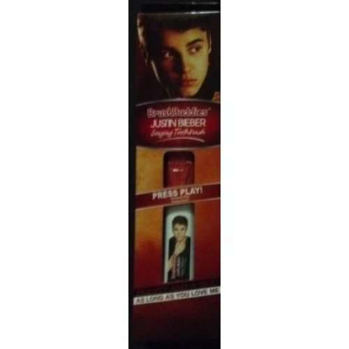 JUSTIN BIEBER SINGING TOOTHBRUSH beauty and a beat as long as you love me