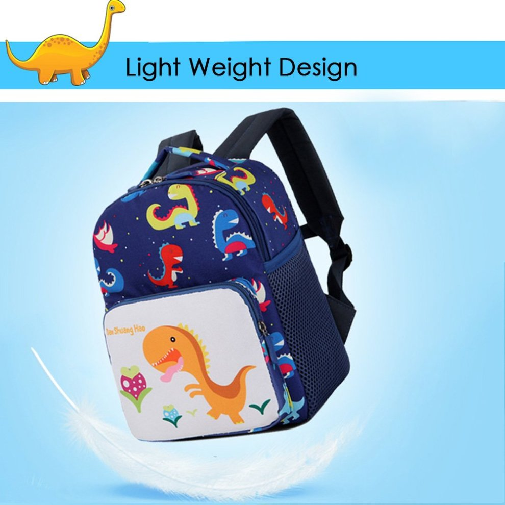 c0d8f823023c Toddler Children's Backpack With Safety Harness Leash Baby Boys Girls  Dinosaur Preschool Backpack Snack Lunch Bag Travel Rucksack By FUYAO (Navy)