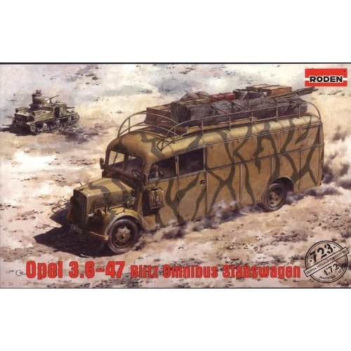 Roden 723Model Kit Opel 3.6–47Blitz Omnibus Bar Trolley