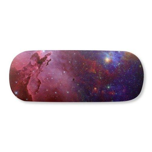 Blue Red  Stars Galaxy Glasses Case Eyeglasses  Shell  Storage Box