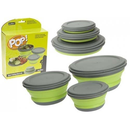 Summit Easy Use 'pop' 3 Piece Bowl Set Easy Clean & Transport - Pop -  summit set 3 pop bowl piece easy use clean transport