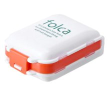 Portable 7 Day Pill Reminder Medicine Storage Container Pill Case, White