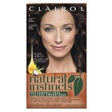Clairol Natural Instincts, 4 / 28 Nutmeg Dark Brown, Semi-Permanent Hair Color, 1 Kit