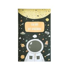 Cartoon Japanese Style Short Kitchen Cloth Curtain Bedroom Curtains, Astronaut