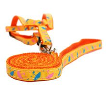 Durable Dog Collar Leash Strap For Puppy Pet,Orange