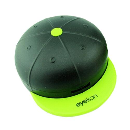 Stylish Contact Lens Case Lenses Holder Box Travel Kit Case Black+Green