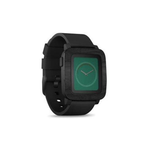 DecalGirl PSWT-BLACKWOOD Pebble Time Smart Watch Skin - Black Woodgrain
