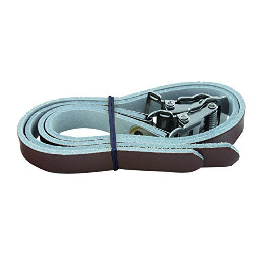 M Wave Brown Leather Straps for Toe Clips