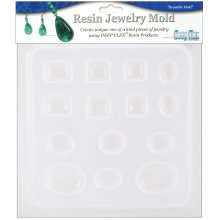 "Resin Jewelry Mold 6.5""X7""-Jewels - 14 Cavity"